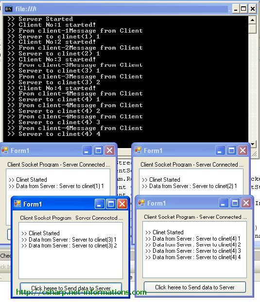 The linux socket and network tcp client-server c program example.