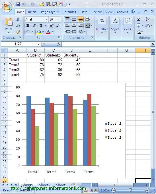 How to create Excel Chart from C#