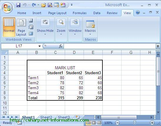 Next : How to insert a picture in excel from C# App