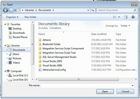 C# OpenFile Dialog Box